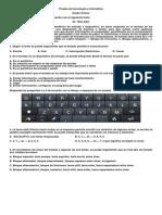 Prueba de Tecnología e Informática 2do Periodo 2014