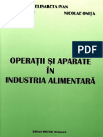 Unit Operations and Apparatus for the Food Industry (Romanian) - Onita 2003