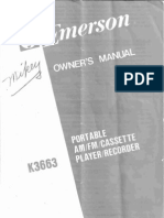 Emerson K3663 Owner's manual