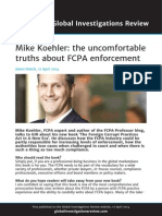 Global Investigations Review (Mike Koehler Q&A)