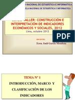 Tema 1 Introduccion Curso Taller Indicadores Enei Lima Octubre 2012 Ok