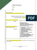 Pre-Foreclosure Complaint Plaintiffs)