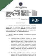 COMELEC Resolution 7794