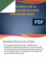 Biomecánica de La Articulación de Flexo Extensión Codo
