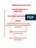 Ensayo Intervencion Educativa