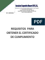 Requisitos Del Certificado de Cumplimiento