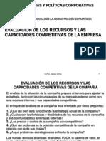 Evaluacion de Los Recursos y Capacidades Competetitivas