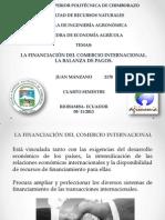 La Financiación Del Comercio Internacional. La Balanza de Pagos