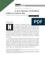 Autonomía de La Voluntad y Pluralismo Jurd. Por Perrin