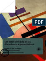 Eemeren Frans H Van - Los Actos de Habla en Las Discusiones Argumentativas