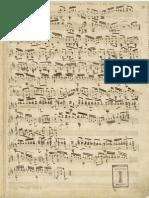 Coste Intro Variations Rossini Guitar Manuscript
