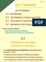 Ch 3 Relativity
