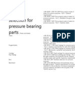 Material Selection for Pressure Bearing Parts Plates and Sheets