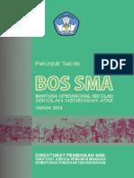 Juknis Final Bos Sma 2014 panduan laporan bos