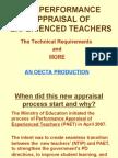 The Performance Appraisal of Experienced Teachers