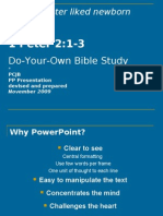 BS15. Do Your Own Bible Study 1 Peter 2 1-3 WEB V
