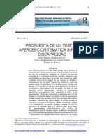 Test Apercepcion Tematica Infantil Discapacidad