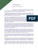 Fce - Reading Part 1 Practice