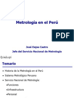 Metrologia en El Peru-historia