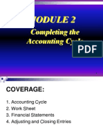 Module 2- Completing the Accounting Cycle Discussion