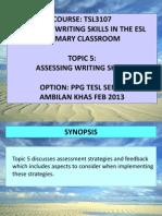 Tsl3107 5 Assessing Writing Skills