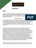 Accademia Della Crusca - Uso Delle Preposizioni - 2013-07-09