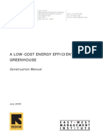 A low-cost energy efficient greenhouse - construction manual