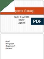 Pengantar Geologi Field Trip