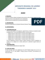 BASES FREDERICK SANGER 2014-I + I OPEN