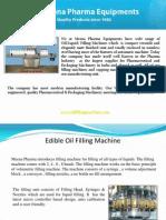 Edible Oil Filling Machine Mumbai India