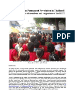 Forward to Permanent Revolution in Thailand! An open letter to all members and supporters of the RCIT