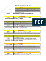 2014-2015 Falcon Gymnastics Calendar