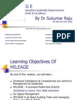 Prof Sukumar Raju's MILEAGE -Road Map for Wining PPT