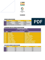 Calendario Coppa Italia Open U11 - 2014