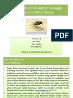 Simulasi Model Kesukaan Serangga Menempel Pada Warna