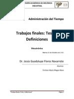 Administración Del Tiempo (Final)