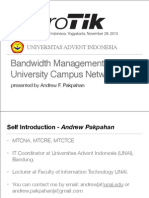 Bandwidth Management in University Campus