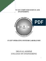 Operating System Lab Manual - CS2257