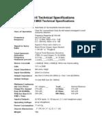 PR-II Technicial specifications