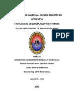 Mineria Metalica y No Metalica