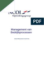 Samenvatting - Management Van Bedrijfsprocessen - Cockpit & Analyse