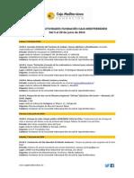 Agenda Actividades Destacadas. Del 5 al 20 de junio 2014. Fundación Caja Mediterráneo