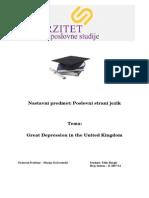 Great Depression in UK