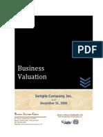 Sample Business Valuation - BAG