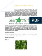 Herbal Extract Manufacturers In India | starhiherbs