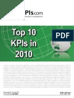 Top10 KPIs in 2010 Print