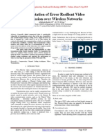 Implementation of Error Resilient Video