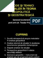 Tema 3. Metode Si Tehnici de Analiza in Teoria Geopolitica Si Geostrategica