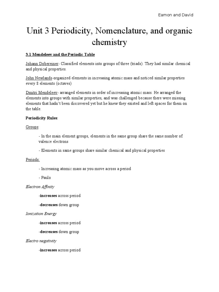 Electronegativity across the periodic table images periodic electronegativity across periodic table image collections unit 3 study guide chemistry periodic table ion gamestrikefo image gamestrikefo Choice Image
