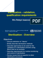 SterilisationValidationQualification WHO 2009